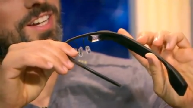 Google Co-Founder Sergey Brin showing off Project Glass on The Gavin Newsom Show